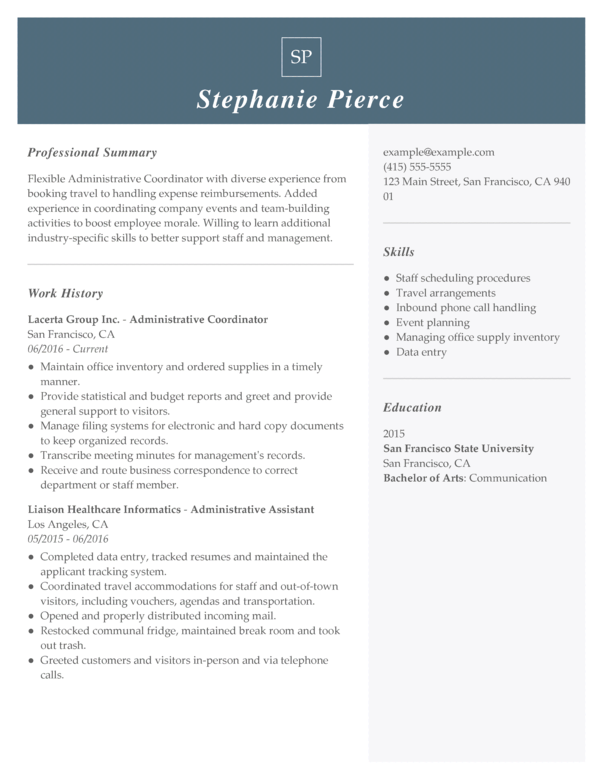 Executive Assistant Resume Examples Created by Pros  MyPerfectResume