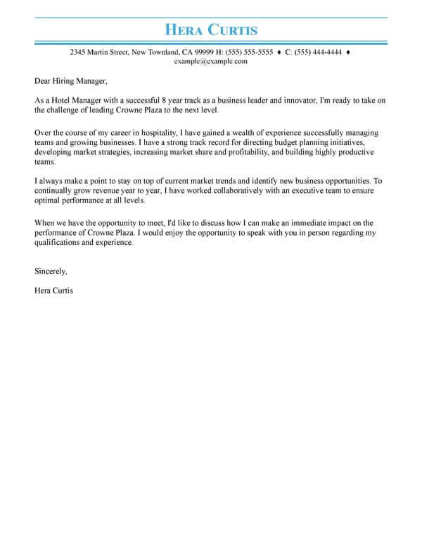 Cover Letter Templates Myperfectresume