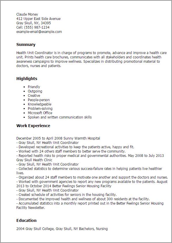 Care Coordinator Resume Resume Sample