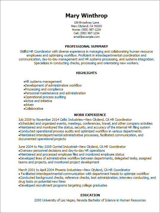 resume sample volunteer