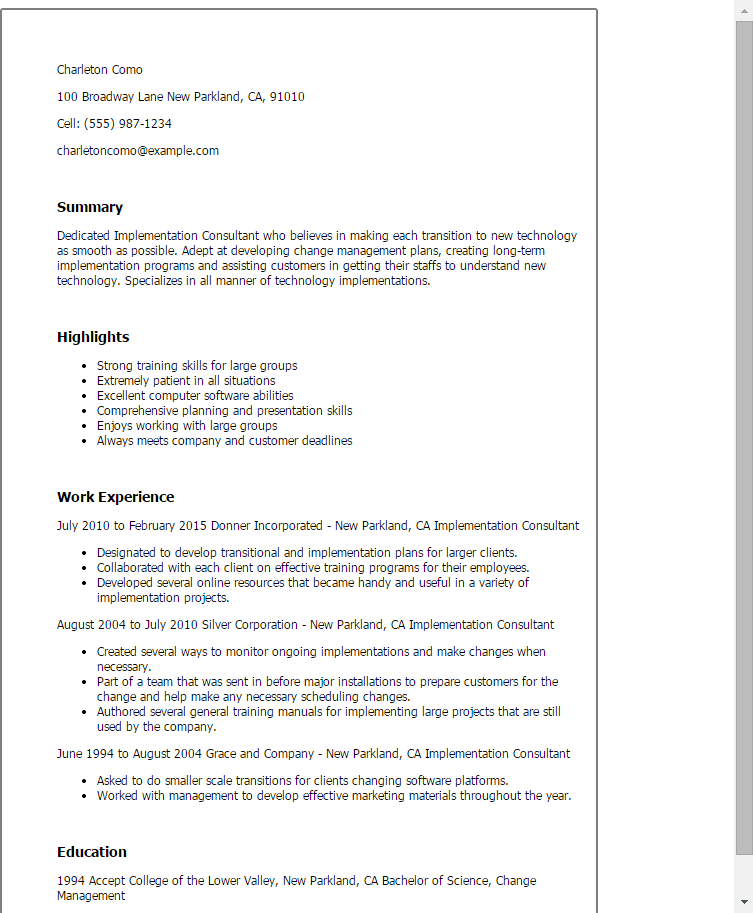 implememtation optimization 859x571jpg download epic consultant resume sample as image file