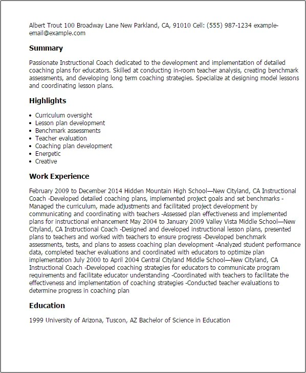 97 Literacy Coach Resume Literacy Coach Cover Letter