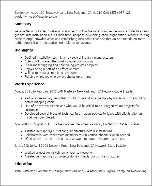 carpet installer resume sample