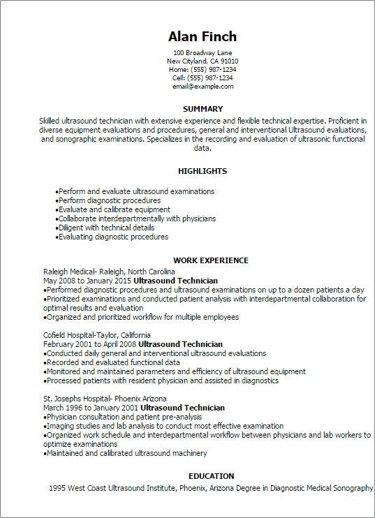 beginer resume samples