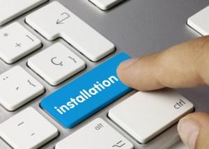 installation keyboard key