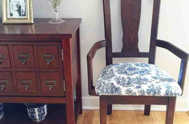 Upholstering and Staining Vintage Chairs | www.mypetitejoys.com