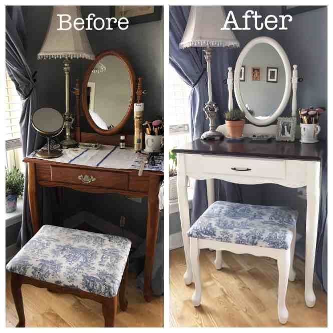Diy Vanity Makeover With Annie Sloan Chalk Paint My Petite Joys
