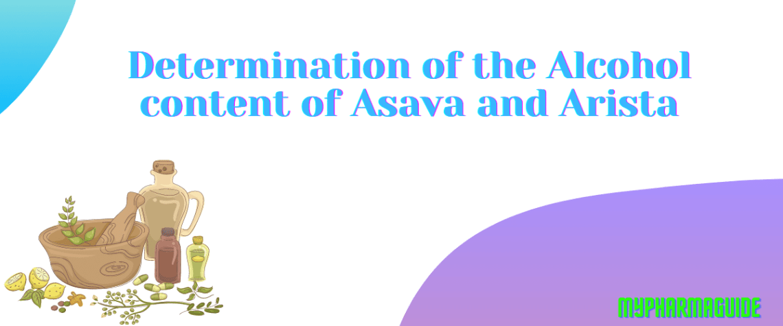 Determination of the Alcohol content of Asava and Arista