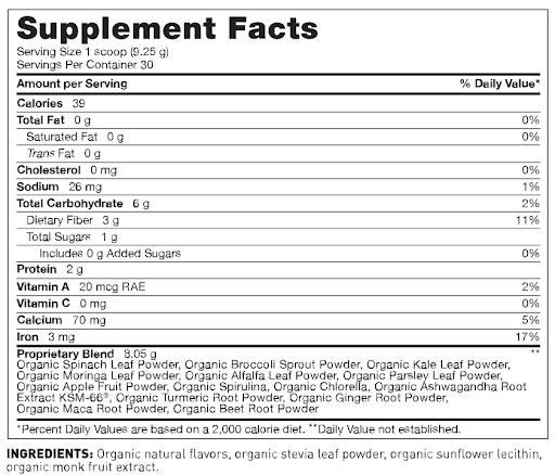 maca powder ingredients