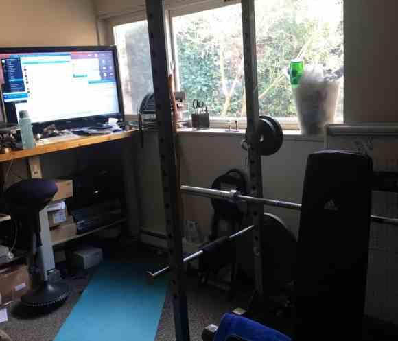 Bedroom Gym Setup