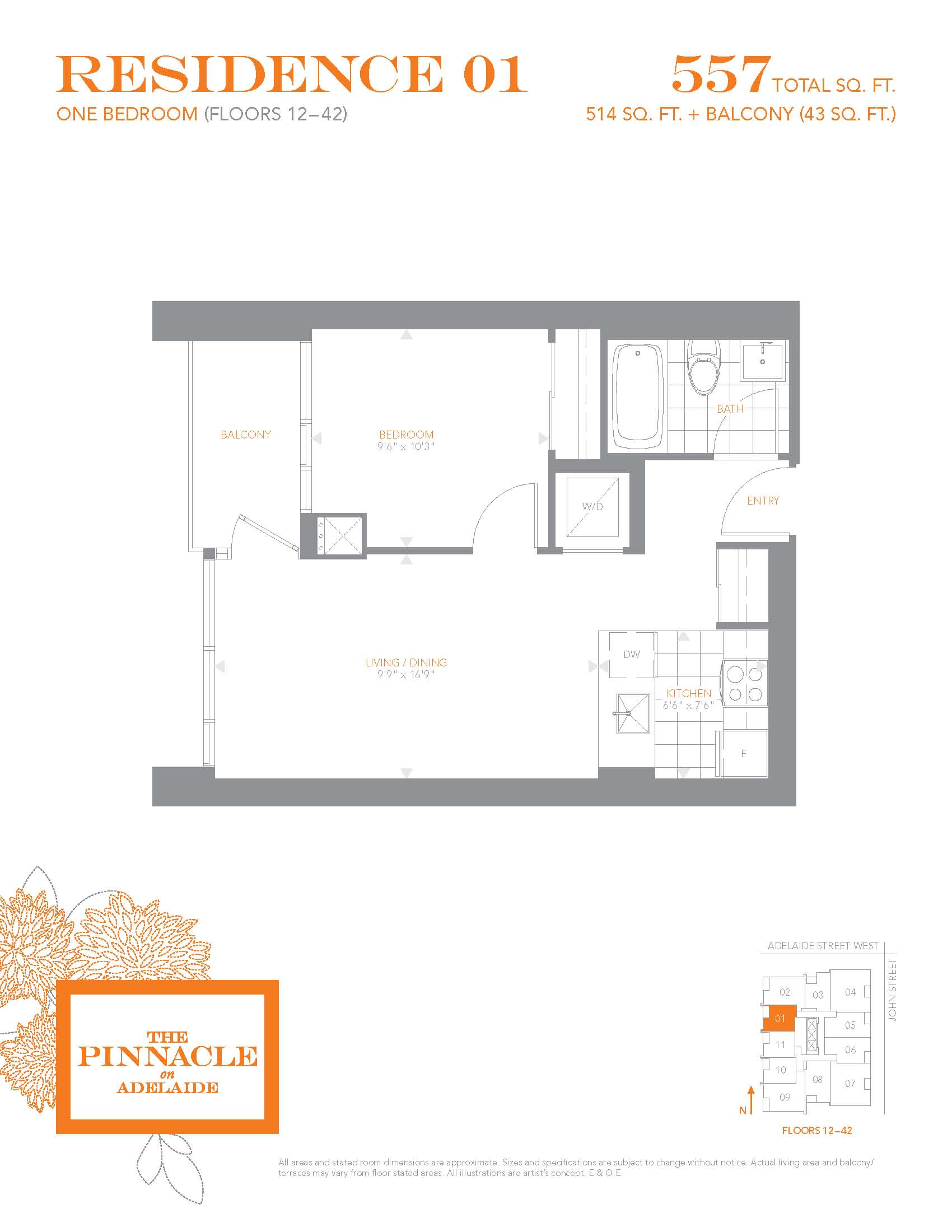 Floor plans for the pinnacle on adelaide pinnacle centre for 12 yonge st floor plan
