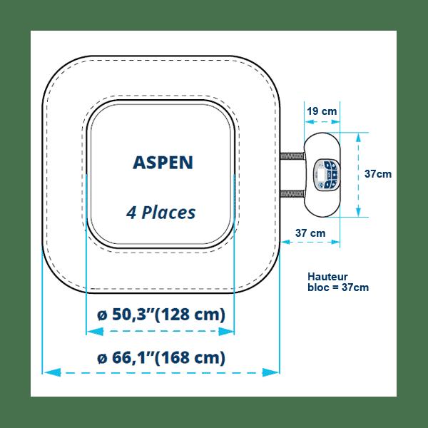 Spa gonflable Netspa Aspen 4 places  MyPiscine