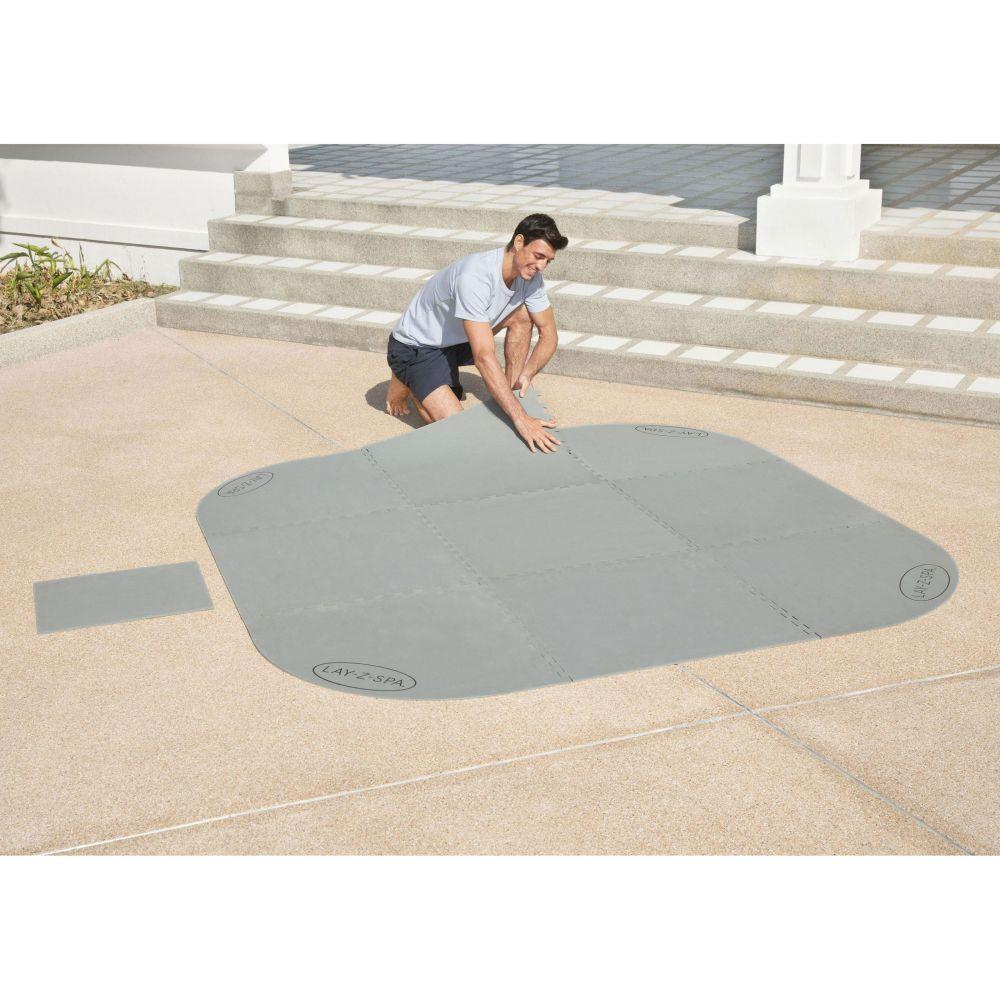 tapis de sol pour spa carre ou rond lay z 216 x 216 cm