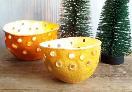 lysestaker av sitrusfrukter