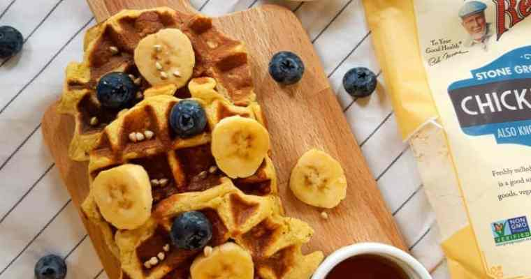 High Protein Vegan Waffles ( Healthy, Gluten-free )