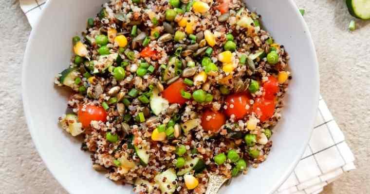 Easy Quinoa Salad Recipe ( Vegan + gluten-free )