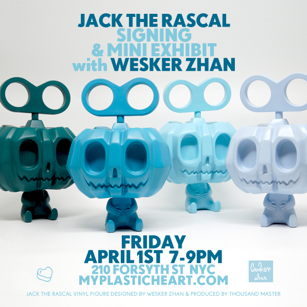Jack The Rascal Signing and Mini Exhibit with Wesker Zhan 04.01.16