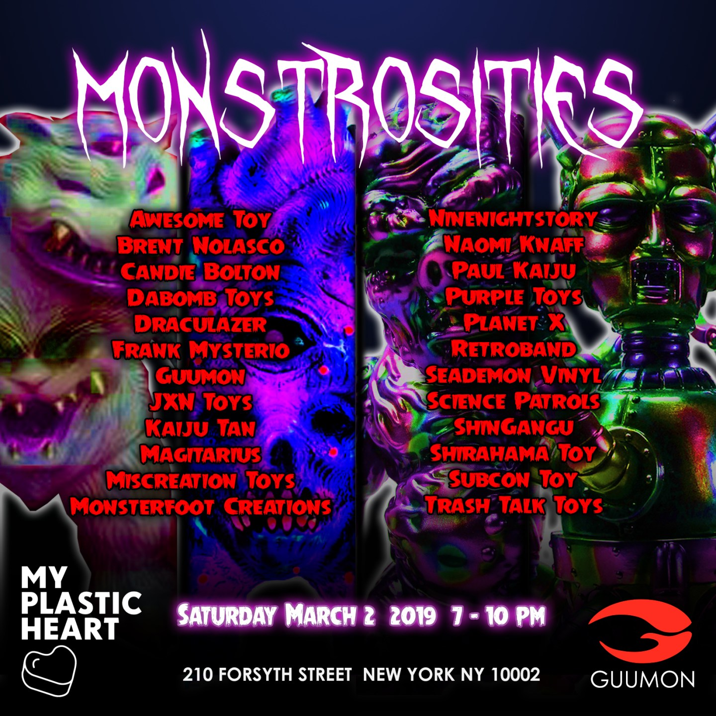 Monstrosities 2019 opens March 2nd