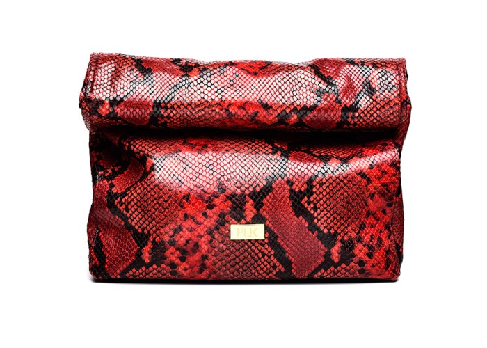 LUNCH PLIK Red Snake Print