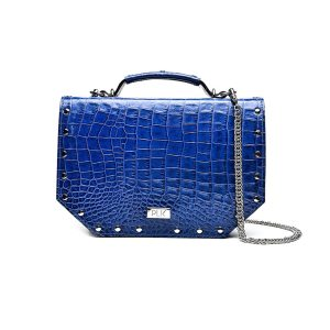 PLIK LOLA XL Blue Croc Print With Caps