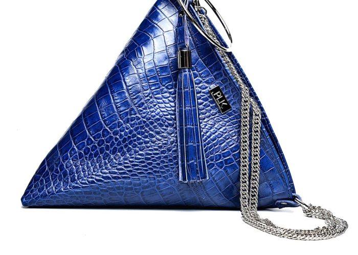 PYRAMID PLIK Blue Croc Print