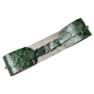 BELT WITH 2 BUCKETS Green Snake