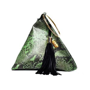 PYRAMID PLIK Mini Green Snake Print