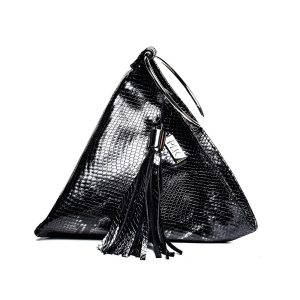 PYRAMID PLIK Mini Black Snake Print
