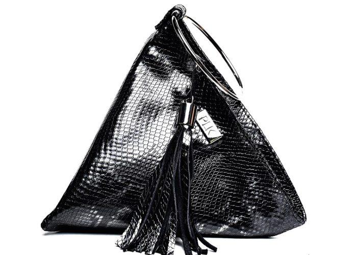 PYRAMID PLIK Mini Black Snake Print