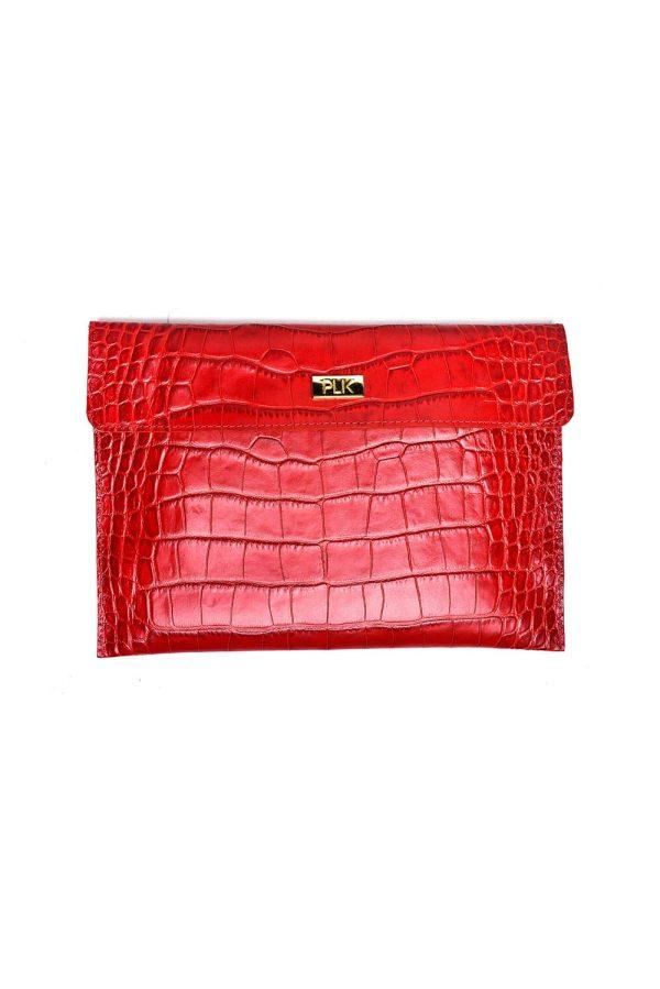 CLASSIC PLIK Red Croc Print