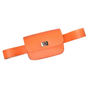 BELT BAG PLIK Coral Saffiano