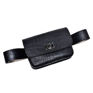 BELT BAG PLIK Black Croc Print