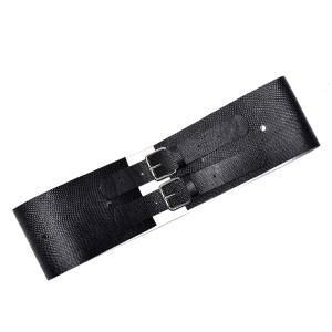 WIDE BELT WITH 2 BUCKLES