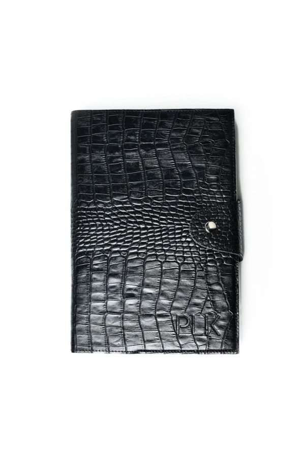 ORGANIZER HOLDER PLIK Black Croco Print