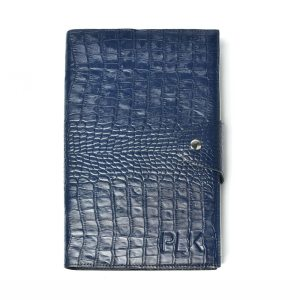 ORGANIZER HOLDER PLIK Dark Blue Croc Print