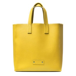 PAPER PLIK Mini Yellow Saffiano