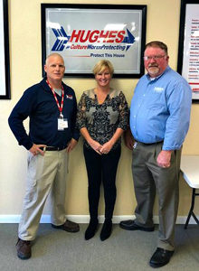 From left are Will Hornberger, wildlife service professional; Gail Jaffee, office manager; and Brian Keane, service center manager. PHOTO: ARROW EXTERMINATORS