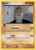 Pokmon Math teacher 1 1  Boring math work  My Pokemon Card