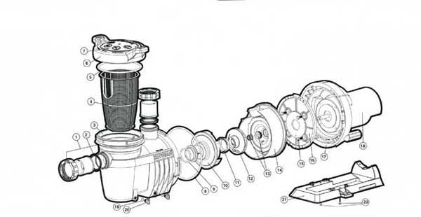 Hayward NorthStar Pump Parts Diagram