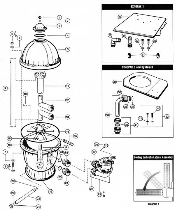 MyPool,Hayward S240 Sand Filter Parts List