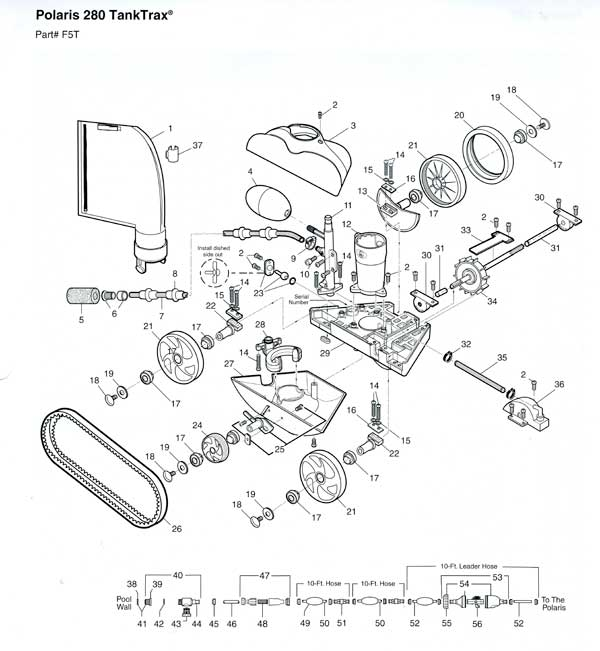 Polaris 280 Tank Trak Pool Cleaner Parts Diagram