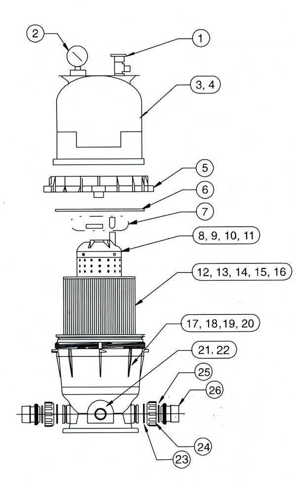 American Products Predator Filter Parts Diagram