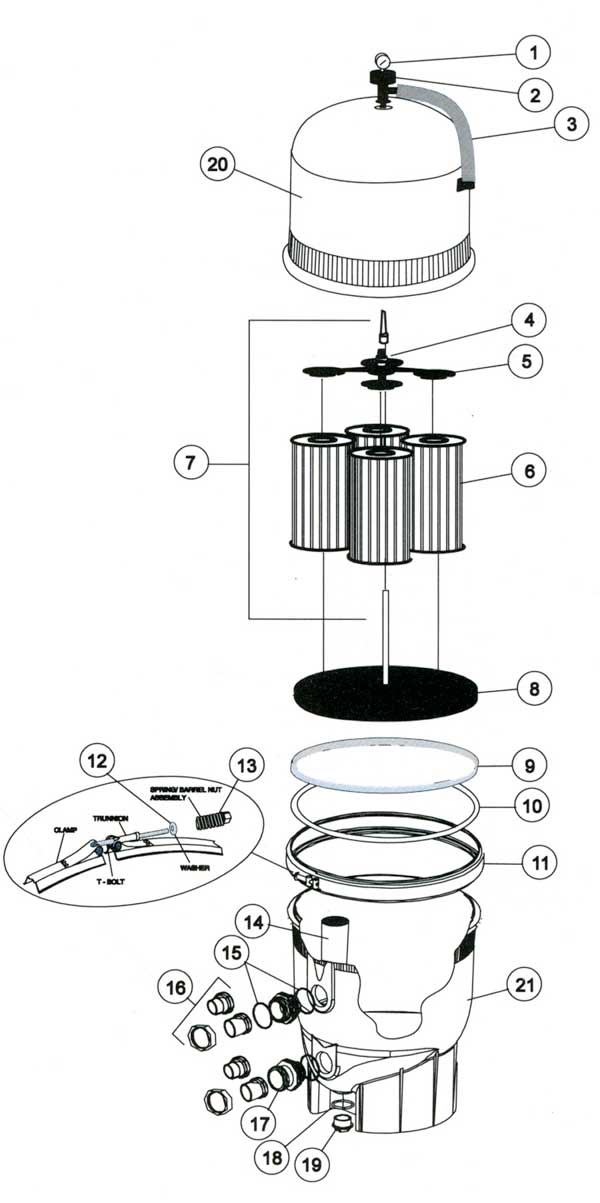 American Products Quantum RPM Filter Parts Diagram