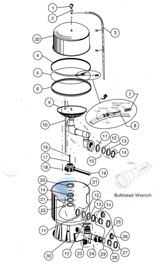 American Products SandPiper Filter Parts Diagram
