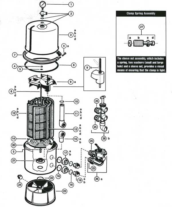 MyPool, Hayward Micro-Clear, Filter Parts Diagram