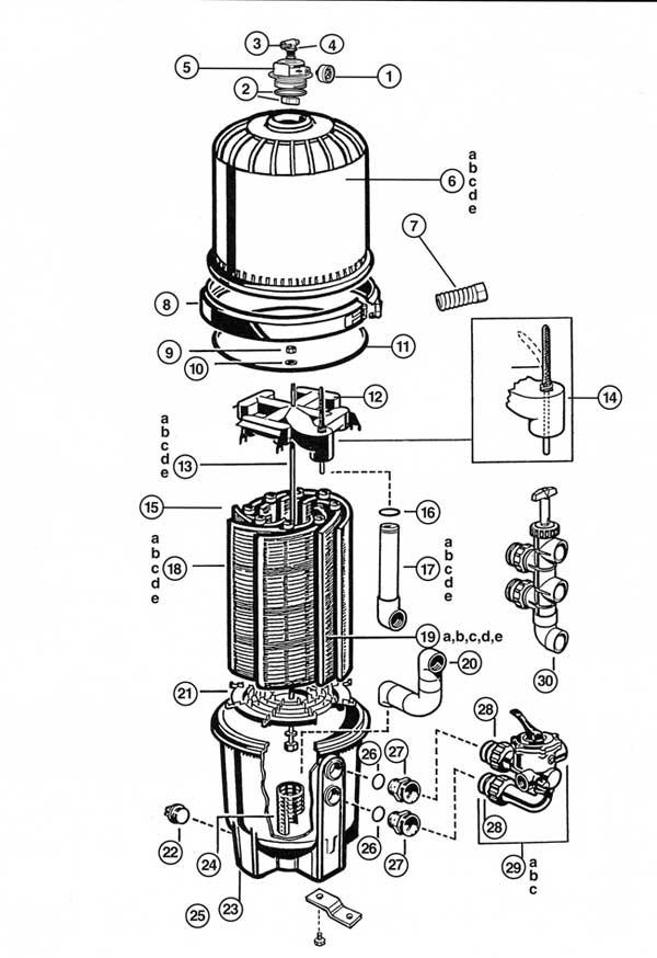 Hayward Pro-Grid Filter Parts Diagram