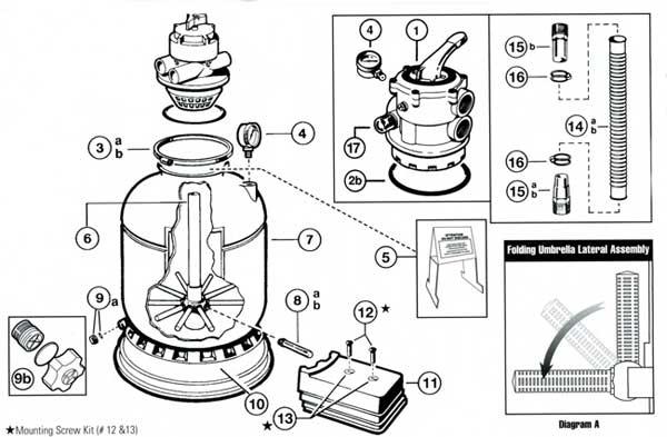 Hayward Pro Series S140T, S144T Sand Filter Parts List