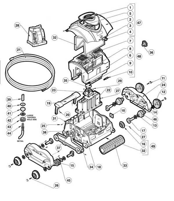 Hayward SharkVac Electric Pool Cleaner Parts Diagram