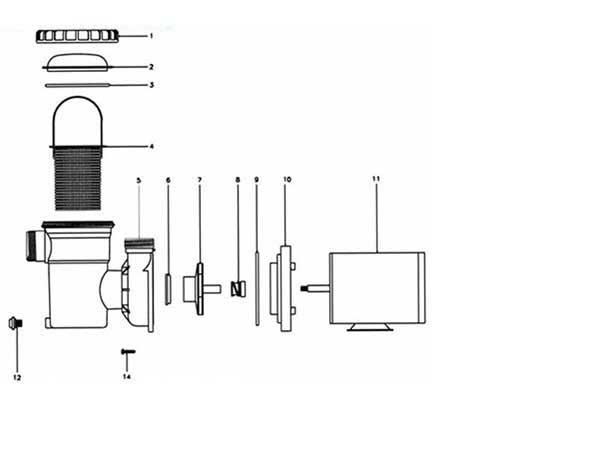 Jacuzzi B Series Pool Pump Parts