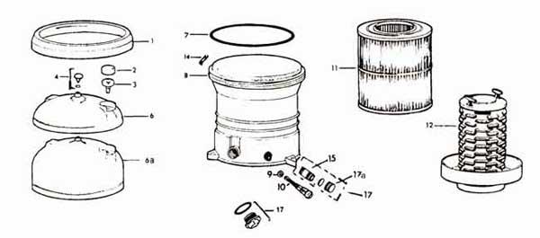 Jacuzzi CFR Filter Parts List